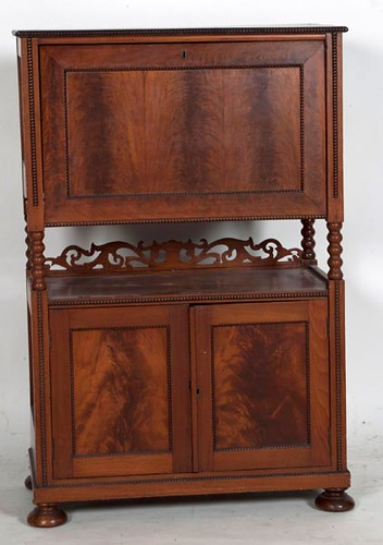 Rosewood 3 Door Wardrobe w/ Relief Carving ($715.00)