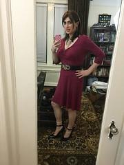 Burgundy Dress Take Two (SecretJess) Tags: girls girly cd femme tgirl lgbt transvestite casual trans crossdresser crossdress gurl tg bigender genderfluid girlslikeus