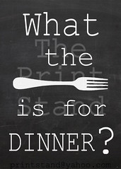 KI1006 - What the Fork? - chalkboard (printstand) Tags: house art utensils kitchen coffee wall dinner knife fork gift supper housewarming chalkboard decor printstand