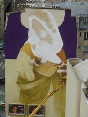 Inti : cration en cours (22 juin 2016) (Archi & Philou) Tags: streetart workinprogress wip inti paris13 paintedwall nacelle murpeint travailencours itinerrance