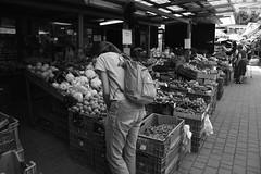 Skvosty ze zemepisno-dejepisneho kurzu (katarinakadijevic) Tags: blackandwhite food woman shop photography nikon friend market backpack local kanken