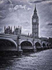 Textured Big Ben (Jim Nix / Nomadic Pursuits) Tags: uk travel england london texture monochrome photography blackwhite unitedkingdom bigben clocktower riverthames westminsterbridge lightroom tonality nomadicpursuits macphun jimnix