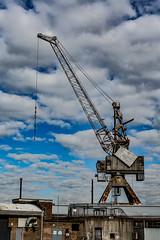 Crane (shashin62) Tags: sydney nsw australia cockatooisland ww2 factory machinery bw