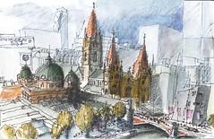 Melbourne CBD (panda1.grafix) Tags: sketch melbourne townscape streetscape