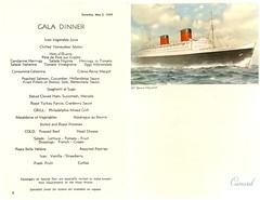 Cunard Gala Dinner Menu May 2 1959 (shadow_in_the_water) Tags: menu ephemera 1950s cunard 1959 oceanliner rmsqueenelizabeth may2nd1959 galadinnermenu