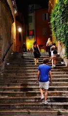Una sera...per le vie e le salite di Brisighella. (franco.56) Tags: nikon persons franco reportage giovani notturno scalinata brisighella d7000