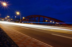 Long Exposure - Magic Moment (galiang) Tags: longexposure travel bridge blue light cars night lights long exposure taiwan bridges taipei bluehour    magicmoment 2016       vsco amazingtaiwan instagram vscotaiwan iseetaiwan iseetaipei
