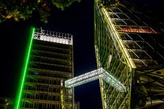 The Two Towers (p.niebergall) Tags: tower night skyscraper nacht belichtung mnster hochhaus wolkenkratzer hochhuser langzeit lvm