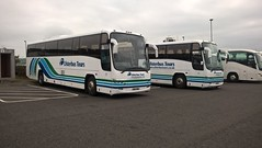 Ulsterbus Tours Plaxtons. (Phill_129) Tags: ulsterbus tours hez 9118 9116 volvo b12m coach hire plaxton panther 118 116 bus belfast northern ireland