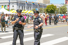 Cool Cops (jerimiah1martinez) Tags: california usa cops guard police law officer lawenforcement badboys policeman sfpd policemen thepolice protectandserve sanfranciscophotos coolcops sfpride2016