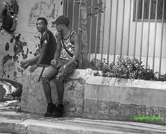 Smokin' N Lookin' (Halcon122) Tags: street urban bw boys look candid streetphotography smoking kingston ja splif olympusem5markii