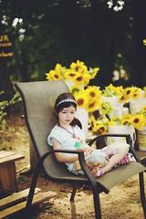 Sunflower princess (Explore Girl2016) Tags: summer beautiful quiet littlegirl sunflowerfield sunflowerbokeh