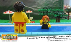 A quit summer afternoon in the pool (EVWEB) Tags: summer pool swimming swim afternoon lego thong shock shorts swimsuit swimwear chlorine minifigures bricksburg