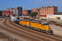 """Northbound Transfer in Kansas City, MO (""""Righteous"""" Grant G.) Tags: city railroad up train pacific union north railway trains missouri kansas locomotive transfer freight northbound"""