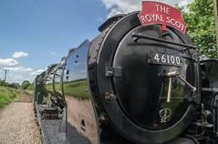 Riding 46100 at the MNR (Tom Watson 70013) Tags: mnr railway steam gala train locomotive 46100 royal scot class rebuilt hardingham station ride riding front window mid norfolk
