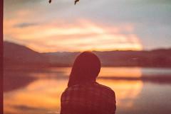 To The Lighthouse (My . December) Tags: ishootfilm film 35mm sunset nikolozjorjikashvili mydecember photography portrait background water lake tbilisi g georgia kodak gold expired