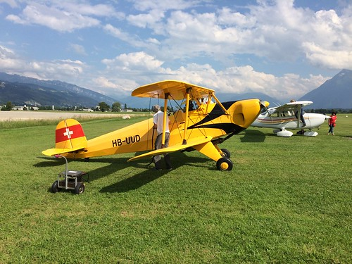 Alpenflug mit dem Bücker Bü 131