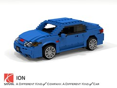 Saturn Ion Quad-Coupe (lego911) Tags: saturn ion quad coupe 2002 2000s compact gm general motors auto car moc model miniland lego lego911 ldd render cad povray lugnuts challenge 104 thescienceofitall science planet chemistry physics foitsop