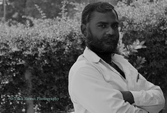 Attitude (Tilak Rawat) Tags: white black monochrome proud beard happy village attitude farmer humble whiteshirt