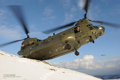 RAF Chinook Delivering Agricultural Food Aid After Heavy Snow (Defence Images) Tags: uk food snow weather aircraft military farming free relief aid northernireland british chinook livestock defense defence raf agricultural royalairforce hillsides