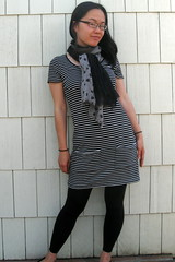 MMM day 8 (ayenforcraft) Tags: dress stripes mmm renfrew pockets sewaholic
