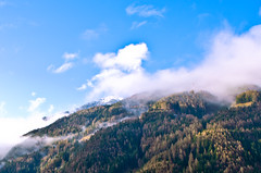 Vipiteno, Alto Adige (sixthofdecember) Tags: morning travel trees sky italy cloud mountain snow mountains tree sunshine fog clouds nikon vipiteno sdtirol altoadige southtyrol sterzing tamron18270 nikond5100