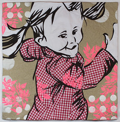 High Spirits 1 (Ruth de Vos) Tags: childhood children screen printing textileart artquilt machinepieced