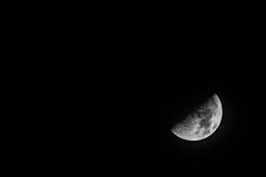 """上弦月 First quarter moon"" / 夜之寧 Night Serenity / SML.20130518.7D.41851.P1.L1.BW"