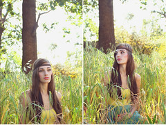 (Whitneylee) Tags: light portrait woman tree beautiful beauty grass fashion youth pose photography model natural modeling vibrant hippie greenery accessories youthful brunette headband whitneylee