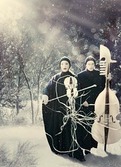 My Frozen Songs (kingabrit2) Tags: winter light musician music snow photomanipulation photoshop landscape frozen photo branch bokeh song surrealism branches clown surreal manipulation beam falling violin cello surrealist manip clowns viola mime songs beams photomanip mimes