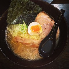London ramen (tonkotsu) at another new ramen place (yumtan) Tags: square lofi squareformat iphoneography instagramapp uploaded:by=instagram foursquare:venue=5111661ee4b06821d1a09d69