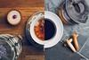 I Drink Coffee, She Takes Tea (Rick Nunn) Tags: wood people cloud storm kitchen coffee floral dark milk cool oak couple warm pattern tea sweet basement rick yang together treat clasp slate teacup yin tart nunn addiction better bakewell earlgrey canonef50mmf14usm stockcategories