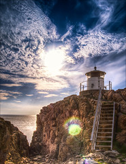 5180957 (Zarako) Tags: sky lighthouse water westcoast hdr fyr sunflare kullen kullaberg