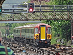 Over The Hump (Deepgreen2009) Tags: bridge train pair south railway redhill express gatwick diversion 442
