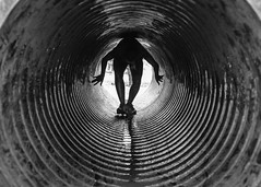 Tunnel Vision (Conor F. Shine) Tags: bw public blackwhite cool noiretblanc tunnel obstaclecourse camppendelton cool2 cool5 cool3 cool6 cool4 worldfamousmudrun artinbw uncool2 uncool3 uncool4 iceboxcool unnecessarilydisturbing cool7forclickchick