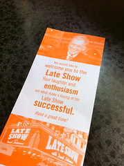 Late Show Ticket (travelontheside) Tags: nyc newyorkcity ny newyork manhattan broadway lateshow letterman cbs davidletterman lateshowwithdavidletterman iphone edsullivantheater