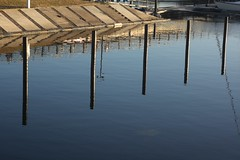 Five Double (brandsvig) Tags: sea summer reflection water marina skne july double m42 mf poles malm vatten ussr sommar helios dubbel 258 resund vstrahamnen canon500d spegling 2013 helios442 dubbla plar
