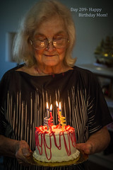 Day 209- Happy Birthday Mom! (Wishard of Oz) Tags: birthday cake mom lowlight candles day209 project365 2013yip 365the2013edition 365in2013 28jul13 day20362192