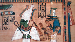Hunefer's Book of the Dead, detail with Osiris (close)