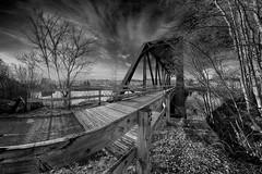 Pont de la piste cyclable du Bassin (gaudreaultnormand) Tags: park canada canon 7d pont fjord blanche parc saguenay chicoutimi bassin 2013 saguenaylacsaintjean canonef815mmf4lusm deluge normandgaudreault