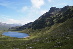 Lochan Bealach Cornaidh on the descent from Quinag