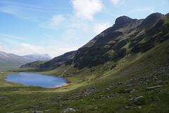 Lochan Bealach Cornaidh on the descent from Quinag