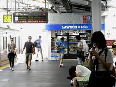 P8070467b (mr_nihei) Tags: girl beauty station japan train tokyo railway jiyugaoka tokyu