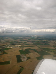 Departure (K.G.Hawes) Tags: sky cloud window clouds rural plane airplane fly flying europe cloudy farm air flight jet creative engine commons cc creativecommons farms agriculture