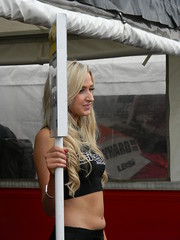 Blond PR Girl - Knockhill (jambox998) Tags: girl promo blond pr knockhill