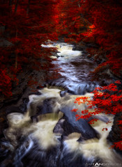 Pot Hole Rapids on the Ontonagon River #2 Red by Matt Anderson (Matt Anderson Photography) Tags: statepark longexposure sunset usa motion reflection nature horizontal speed river outdoors photography