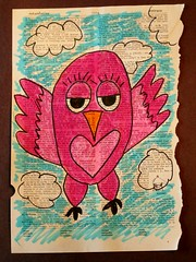 My wise owl sample #2 (eclectic_chica) Tags: art fall kids drawing marker lesson dictionary owls