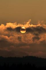 400 000 milliards de milliards de kilowatts (Steph Blin) Tags: sunset sun clouds forest montagne landscape soleil arbres nuages paysage fort auvergne firs sapins