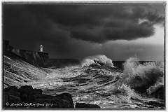 Storm (angeladj1) Tags: lighthouse storm seaside rocks waves porthcawl
