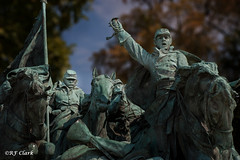 Charge!!! (RF Clark) Tags: statue bronze washingtondc nikond50 nationalmall bronzestatue ulyssessgrantmemorial calvarygroup